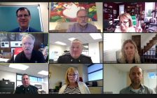 Sarnia Police Services Board meeting on Zoom. 8 October 2020.