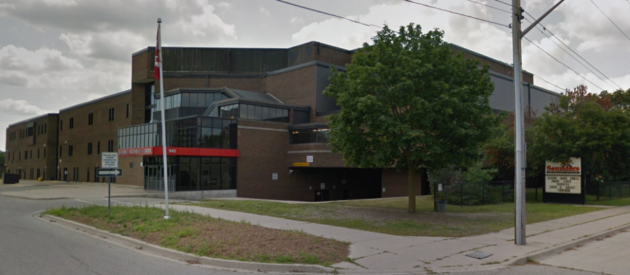 Saunders Secondary School on Viscount Road. Photo from Google Maps Street View.