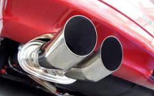 A dual exhaust muffler. File photo courtesy of © Can Stock Photo / Pixelia29