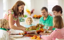 A family gathers for Thanksgiving dinner. File photo courtesy of © Can Stock Photo / famveldman