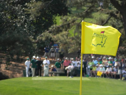 A flag at The Masters golf tournament at Augusta National. 2014. (Photo by mike mik123je from publicdomainpictures.net)