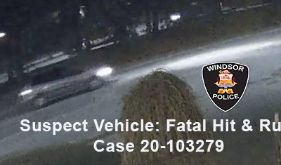 Police are looking to identify this vehicle in connection to a hit-and-run collision. (Photo courtesy of the Windsor Police Service)