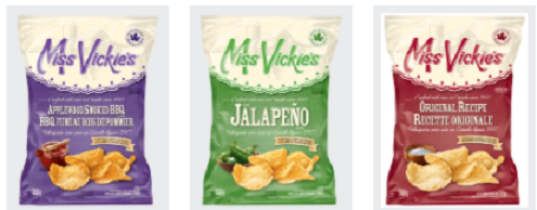 Miss Vickie's brand kettle cooked potato chips recalled due to possibility of glass in bags. Photo courtesy of the Canadian Food Inspection Agency.