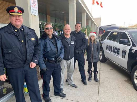 Sarnia Police Chief Norm Hansen (left) and Cops for Cans crew (submitted photo)