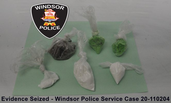 Illegal drugs valued at $35,870 were seized by Windsor police on December 9, 2020. (Photo courtesy of the Windsor Police Service)