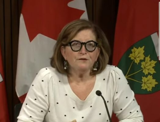 Ontario Associate Medical Officer of Health Dr. Barbara Yaffe speaks with reporters at Queens Park, Toronto, December 29, 2020. Image provided by CPAC.