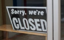'Sorry, we're closed' sign. June 2020. (Photo by Alan Levine from Pxhere)