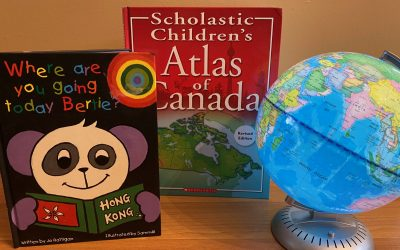 Children's books and globe. Blackburn News Sarnia photo by Melanie Irwin