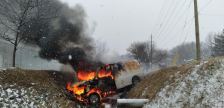 (Photo of the crash on County Road 31 in Kingsville on January 24, 2021 courtesy of the Ontario Provincial Police)