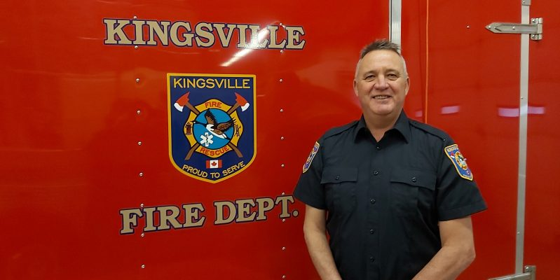 Kingsville Fire Chief John Quennell, January 22, 2021. Photo provided by Town of Kingsville.