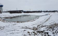 A retention pond is shown in Lakeshore, January 25, 2021. Photo provided by the Municipality of Lakeshore.