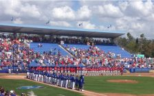 The Toronto Blue Jays prepare for a spring-training game against the Philadelphia Phillies at TD Ballpark in Dunedin, Florida. Photo by Scott Kitching.