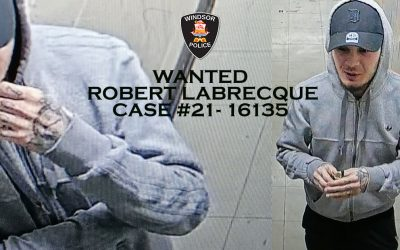 A surveillance photo of Robert Labrecque, March 4, 2021. Photo provided by Windsor Police Service.