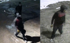 Video surveillance shows two people observed near the Beef Baron around the time a suspicious fire started. January 26, 2021. (Photos courtesy of London police.)