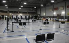 aTargeted vaccine clinic at the WFCU Centre in Windsor, March 3, 2021. (Photo by Maureen Revait)