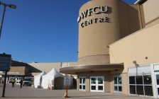 argeted vaccine clinic for the 80+ population at the WFCU Centre in Windsor, March 3, 2021. (Photo by Maureen Revait)