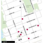 Six new park and pick-up spaces have been created in the downtown. Image courtesy of the City of London.