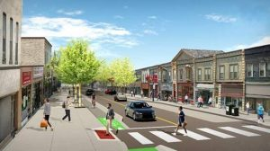 A rendering of the new Dundas streetscape looking west from Elizabeth Street (Photo via the City of London)