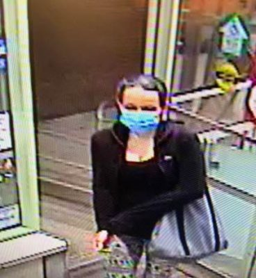 Chatham-Kent police are looking for this woman in connection with a robbery at the Shoppers Drug Mart on St. Clair Street in Chatham. (Photo courtesy of Chatham-Kent police)