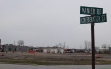 The site of a new McDonald's restaurant at 1111 Confederation Street in Sarnia. 6 April 2021. (BlackburnNews.com photo by Colin Gowdy)