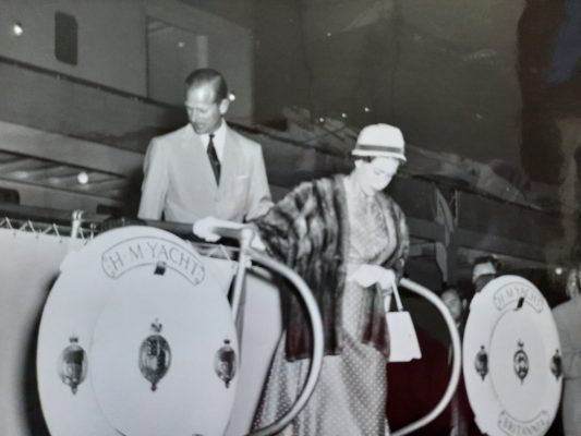 Prince Philip and Queen Elizabeth visit Sarnia. July 3, 1959. Image from Sarnia's official scrap book, taken by the late Doug Paisley, shared by Sarnia Mayor Mike Bradley.