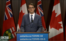 Minister of Labour, Training and Skills Development Monte McNaughton announced paid sick leave for Ontario, April 28, 2021.