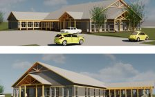 Sarnia and District Humane Society concept drawing for new building. Image courtesy of Robert E. Dale Limited. via Sarnia council online agenda.