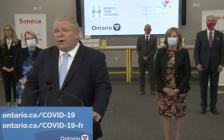 Premier Doug Ford announces the rollout of Phase Two of the province's COVID-19 vaccination plan in Toronto, April 6, 2021. Image from Premier of Ontario/YouTube.