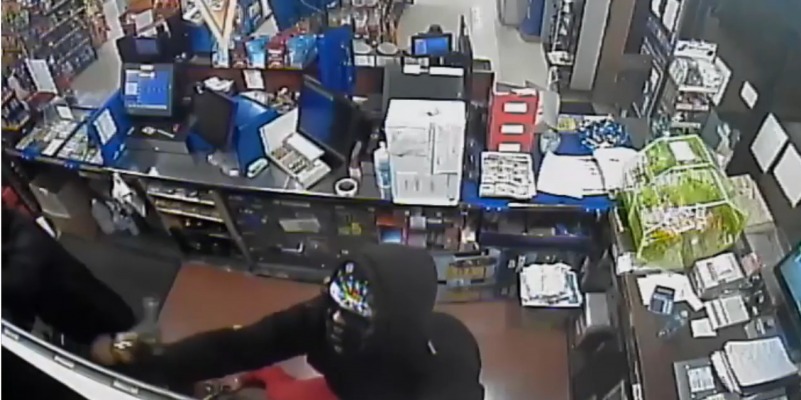 Armed robbery on Seminole Street April 9, 2021. (Released by Windsor Police)