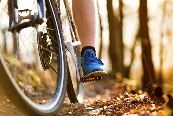 A person cycling along a trail. File photo courtesy of © Can Stock Photo / halfpoint