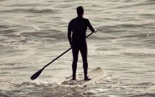 A person paddle boarding. File photo courtesy of © Can Stock Photo / robwilson39