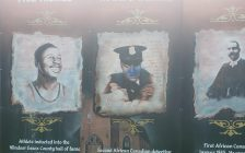A Black history mural is seen defaced in west Windsor on April 30, 2021. Photo by Fabio Costante/Facebook.
