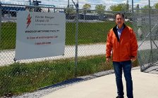 Windsor West MP Brian Masse outside the metering station for Kinder Morgan Utopia Ltd. in Windsor. Photo provided by Brian Masse.