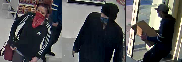 (Photos of three suspects courtesy of the Ontario Provincial Police)