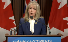 Merrilee Fullerton, Minister of Long-Term Care. (Screenshot from news conference on May 3, 2021)
