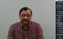 Medical Officer of Health Dr. Wajid Ahmed during the weekly epi-summary presentation, June 11, 2021. (vie YouTube)