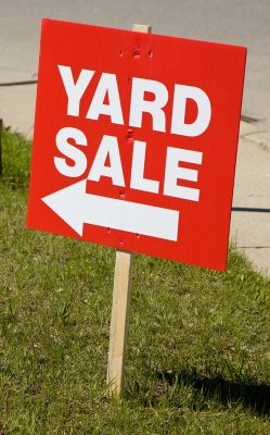 Yard sale sign. © Can Stock Photo / bradcalkins