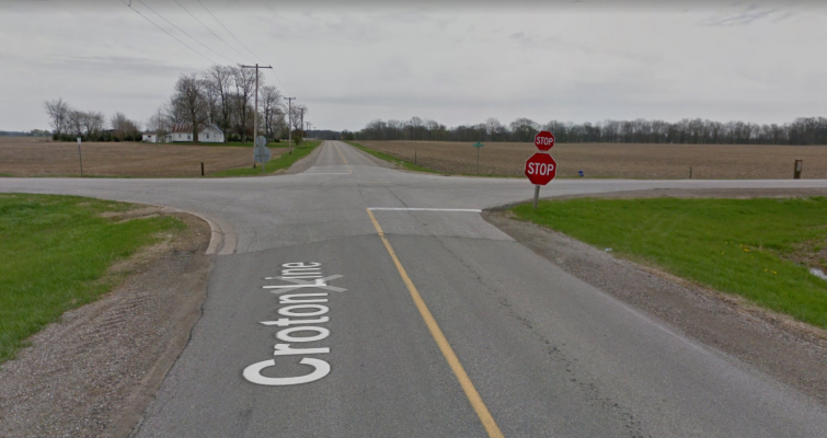 The intersection of Croton Line and Dawn Mills Road. (Photo courtesy of Google Maps)