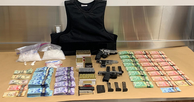 Items seized by police during two raids in south London, June 8, 2021. Photo courtesy of St. Thomas police.