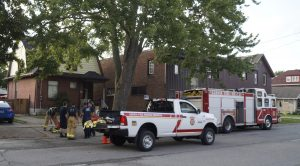 Sarnia firefighters at the scene of a house fire on Vidal Street. 21 July 2021. (BlackburnNews.com file photo)
