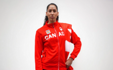 Basketball star Miranda Ayim named as one of Team Canada's two flag bearers at the Tokyo Olympics. Photo courtesy of olympic.ca
