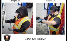 Security camera images of two of the suspects in a break-and-enter on Sprucewood Avenue in Windsor are seen, July 21, 2021. Images provided by Windsor Police Service.