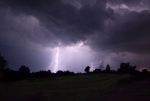 Lightning strikes during a thunderstorm. File photo courtesy of © Can Stock Photo / Pietus