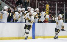 The Sting taking on the Knights in a preseason game from Sarnia. 4 September 2021. (Photo by Metcalfe Photography)