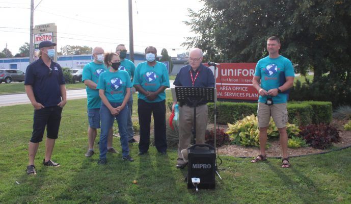The Unifor Windsor Regional Environmental Council presents candidates responses to environmental questions, September 14, 2021. (Photo by Maureen Revait)