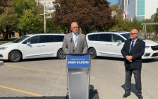 Windsor Mayor Drew Dilkens and Essex County Warden Gary McNamara announce more prizes for the WEVax to Win lottery, September 17, 2021. (Via City of Windsor Facebook)