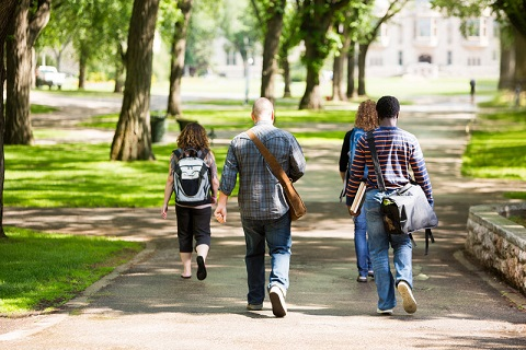 University students walking on campus. File photo courtesy of © Can Stock Photo / Leaf
