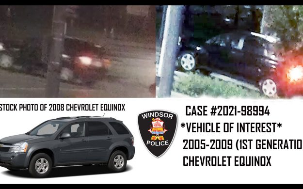 Windsor police are searching for a black, first-generation Chevrolet Equinox that may have been involved in a fatal hit-and-run crash on October 15, 2021.