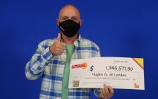 Hughie Gale of London won $1.34 million in the October 2 Lottario draw. Photo courtesy of OLG.