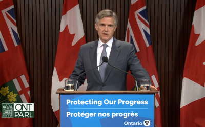 Minister Rod Philips announces the province's plan to hire new inspectors for long-term care homes, October 26, 2021. (via YouTube)